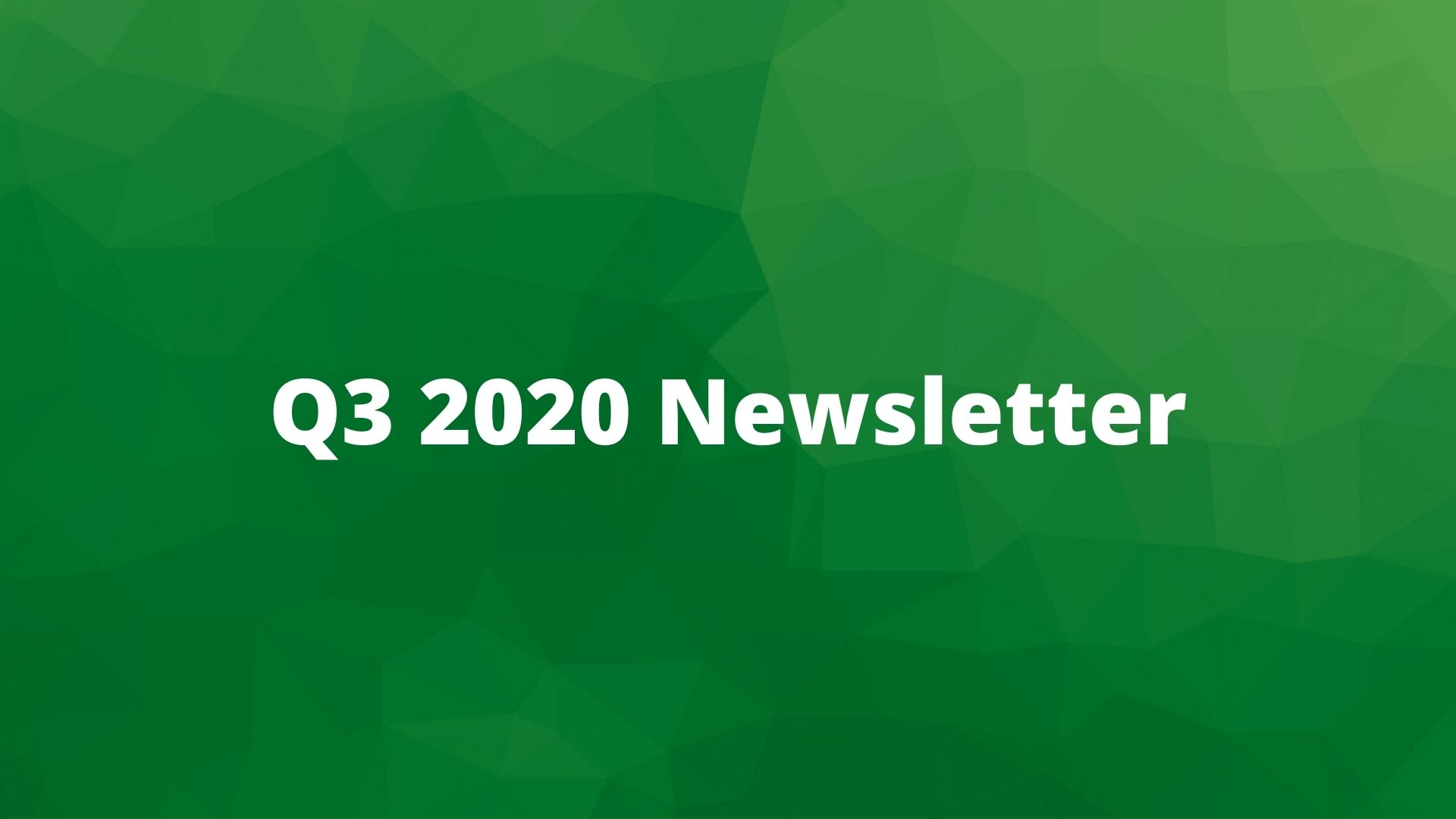 Q3 2020 Plan Sponsor Newsletter